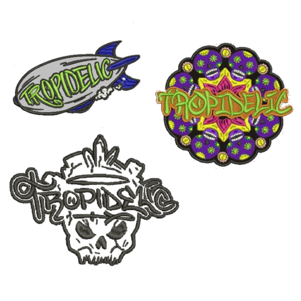 Tropidelic 3 pack of patches