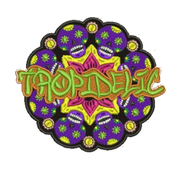 Tropidelic 4 inch sugar skull patch